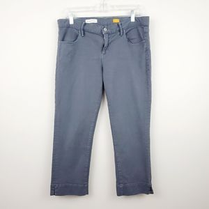 Pilcro | Gray Low-Rise Straight Cropped Jeans